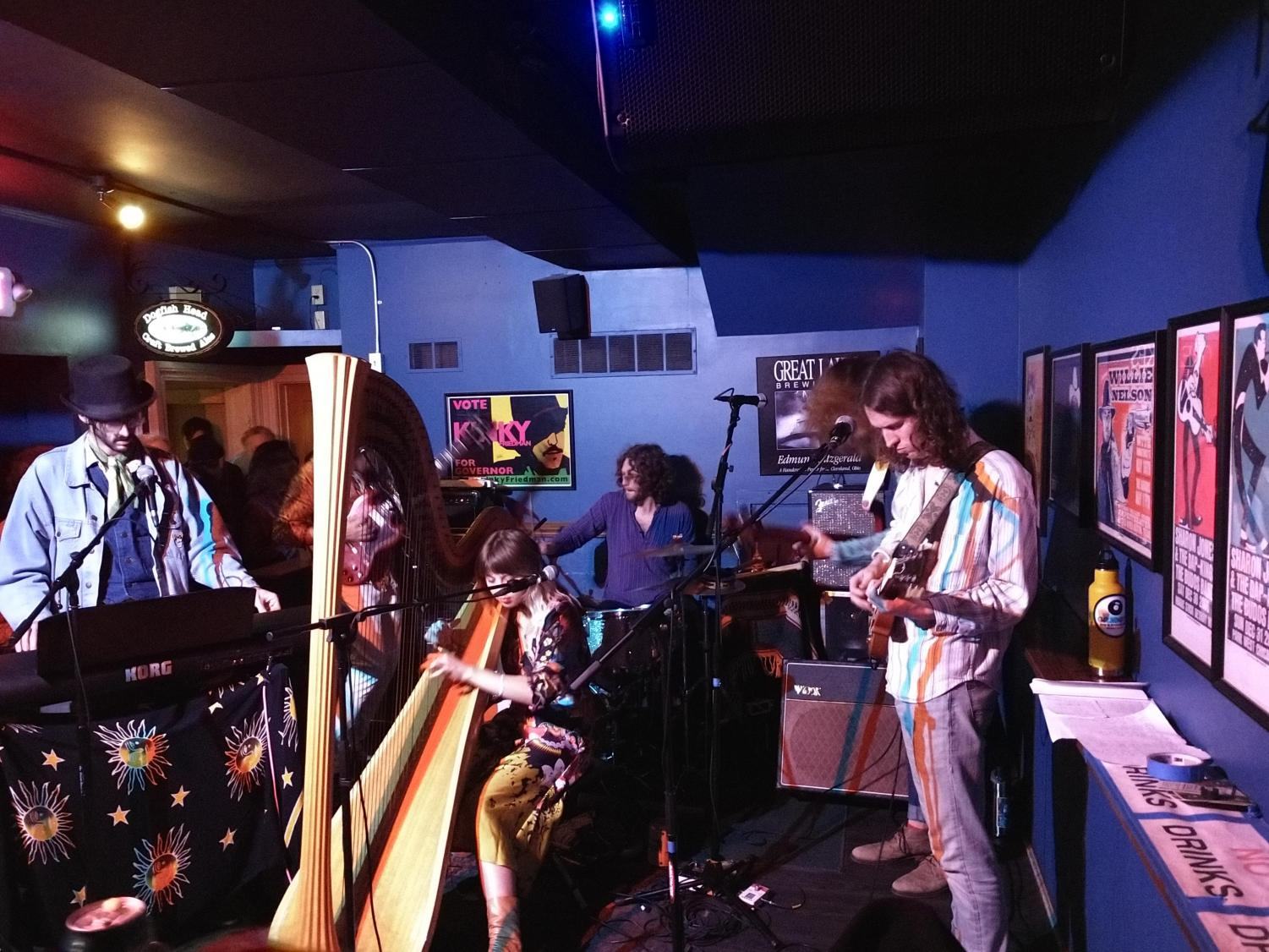 During the second set, the band explores outer space in Dark Star, by the Grateful Dead.